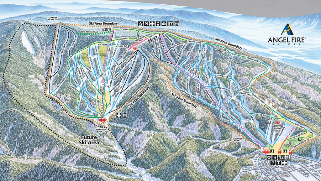 Angel Fire Trail Map