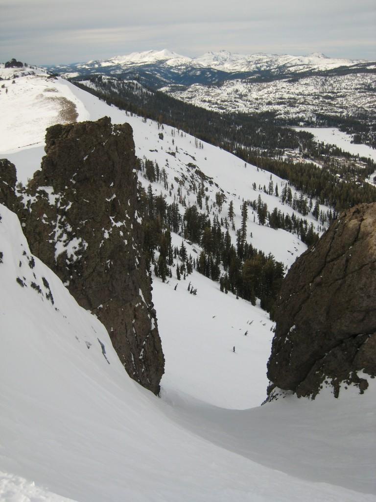 Saddle chute, February 2009