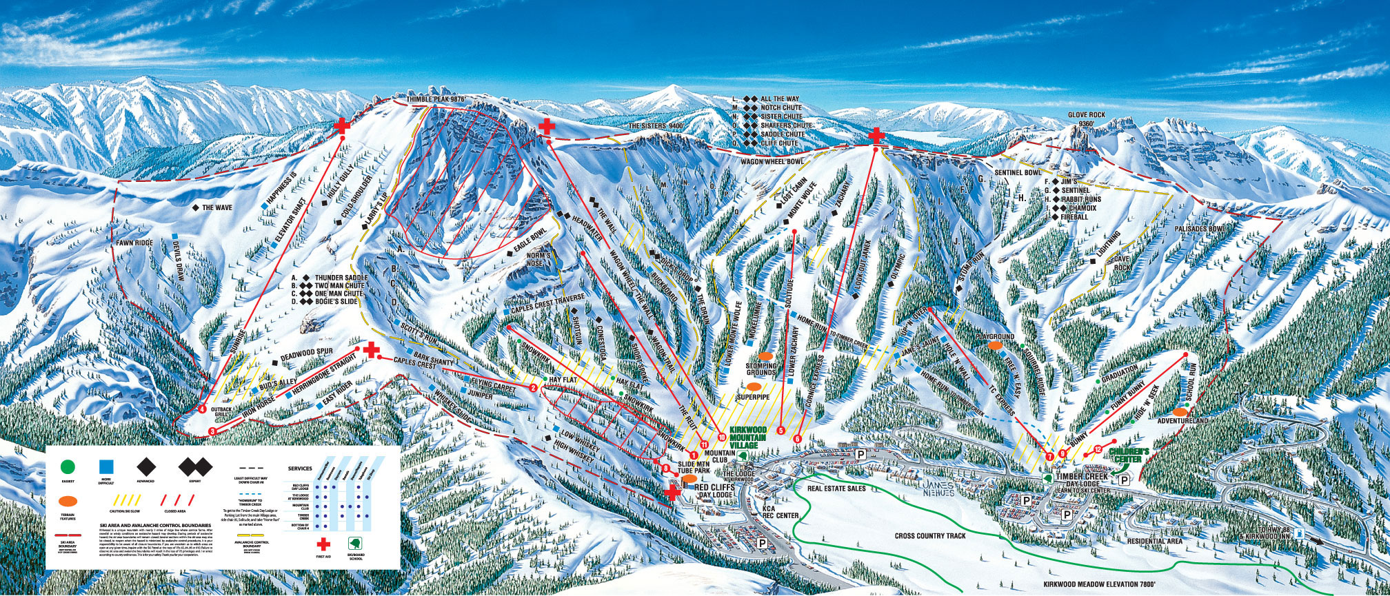 Kirkwood california ski north america 39 s top 100 resorts for The kirkwood