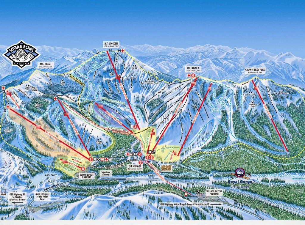 Sugar Bowl trail map 2013/2014