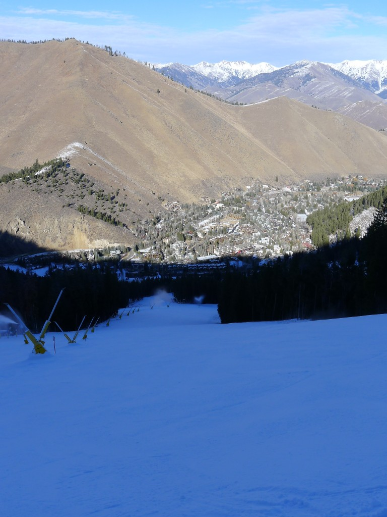 Empty run at the bottom of Warm Springs