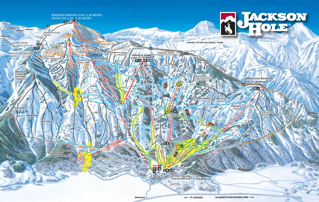 Jackson Hole Map 2013