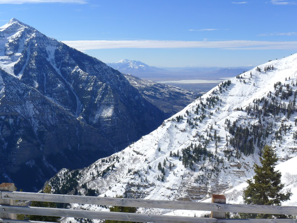 Ogden Canyon and Utah Lake view, February 2014