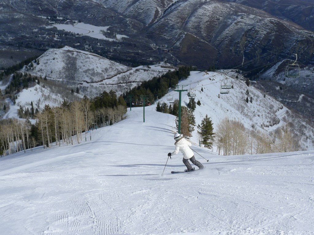 Sundance upper mountain groomer, February 2014