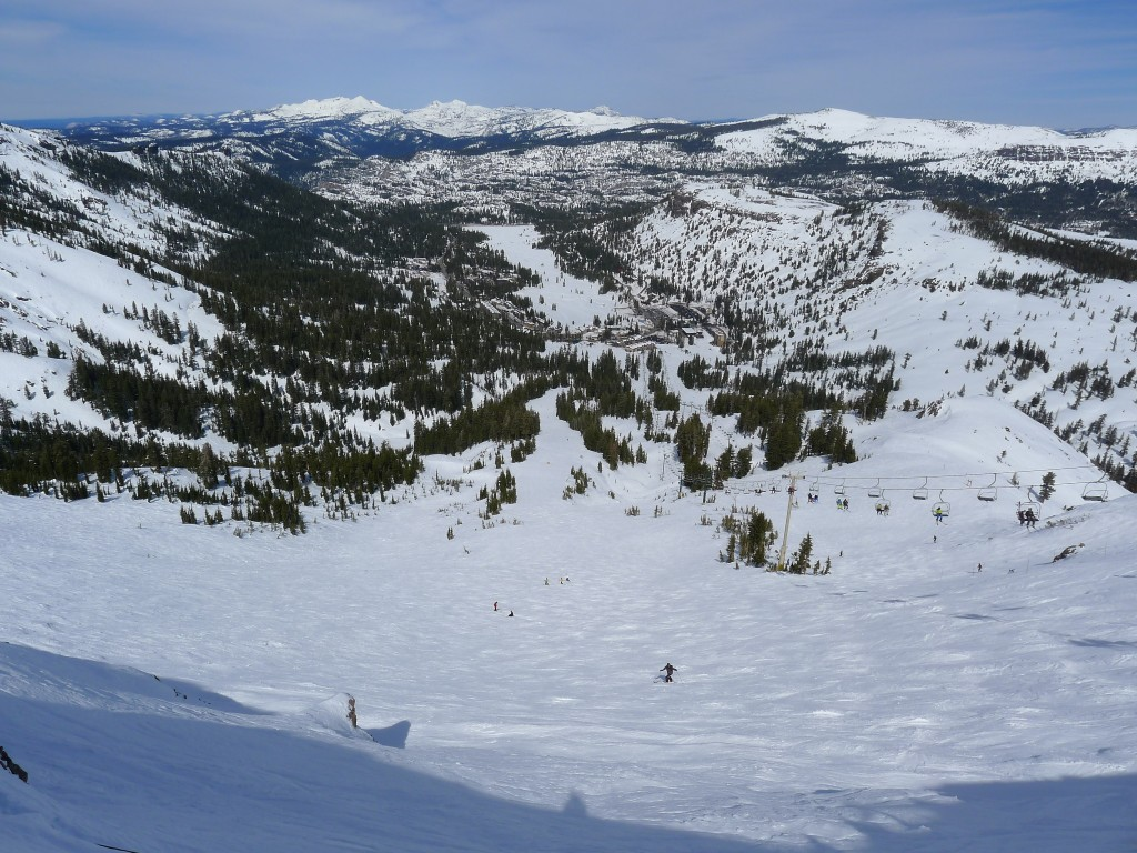 "Top of ""The Wall"" at Kirkwood, March 2014"
