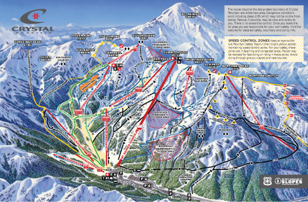 Crystal Mountain Trail Map - 2013/14