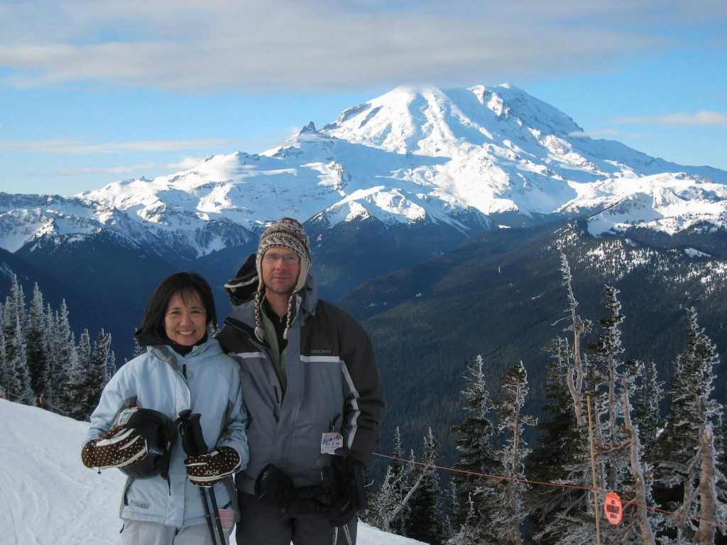 Mt. Rainier view from Crystal Mountain, December 2009