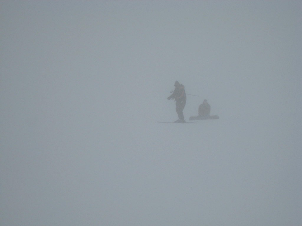 Whiteout on the upper mountain, January 2010