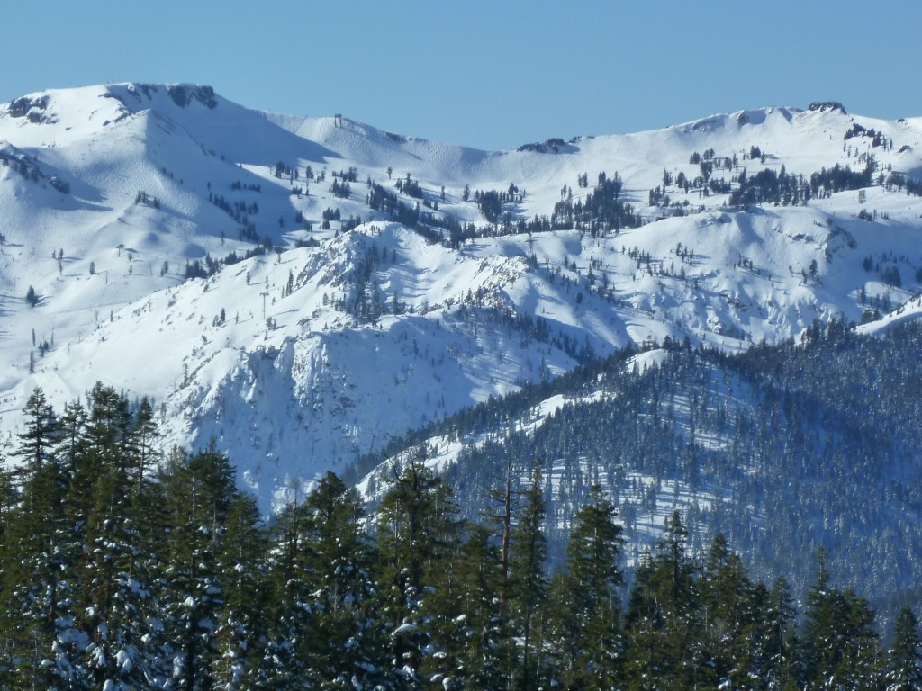 View of Squaw Valley from Northstar, January 2011