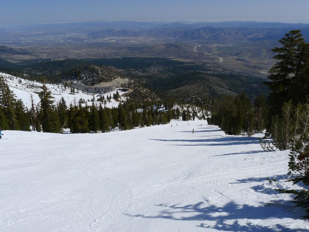 Slide Mountain wide groomer, March 2014