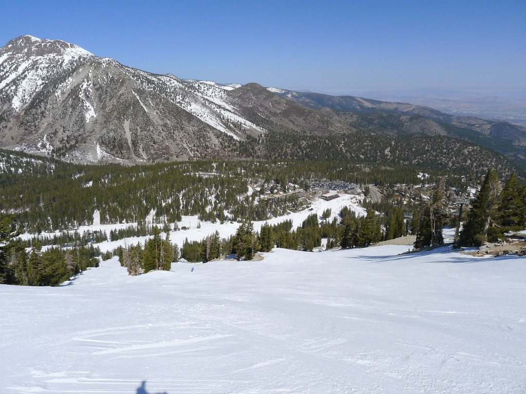 Mt Rose steep groomer, March 2014