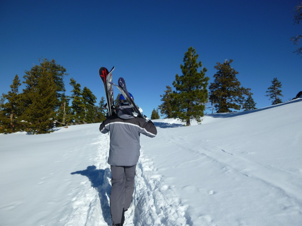 I carry the skis, she carries the poles, Northstar, January 2011