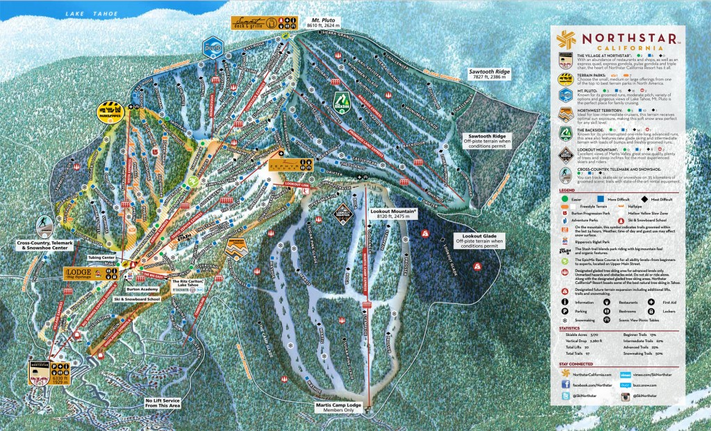 Northstar trail map, 2013-2014