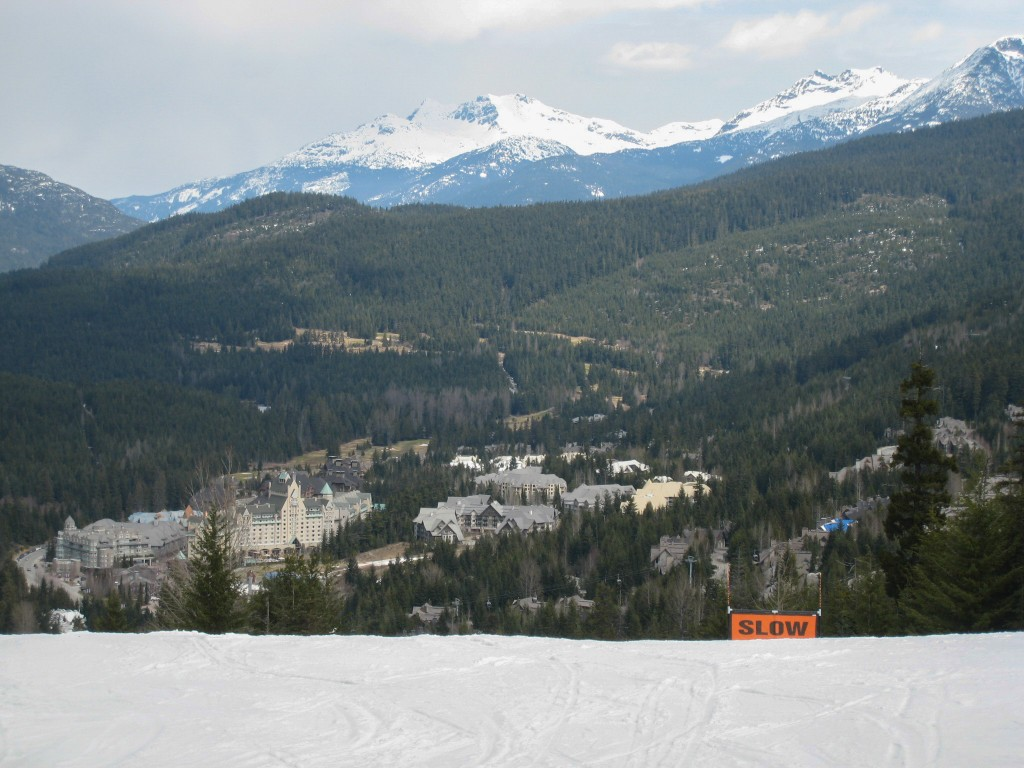 Village from lower Whistler mountain