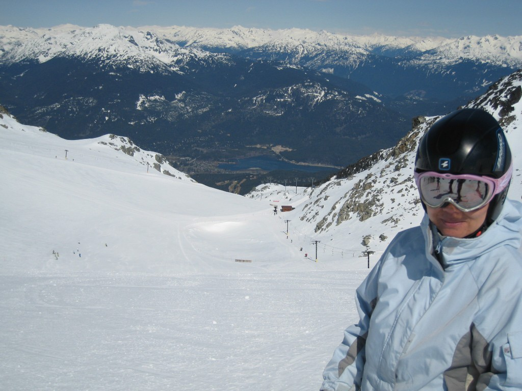 Upper Blackcomb mountain glacier skiing