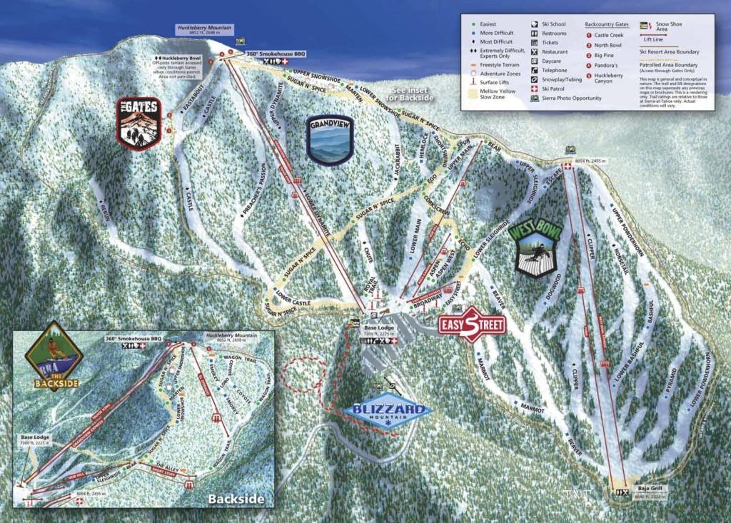 Sierra at Tahoe trail map