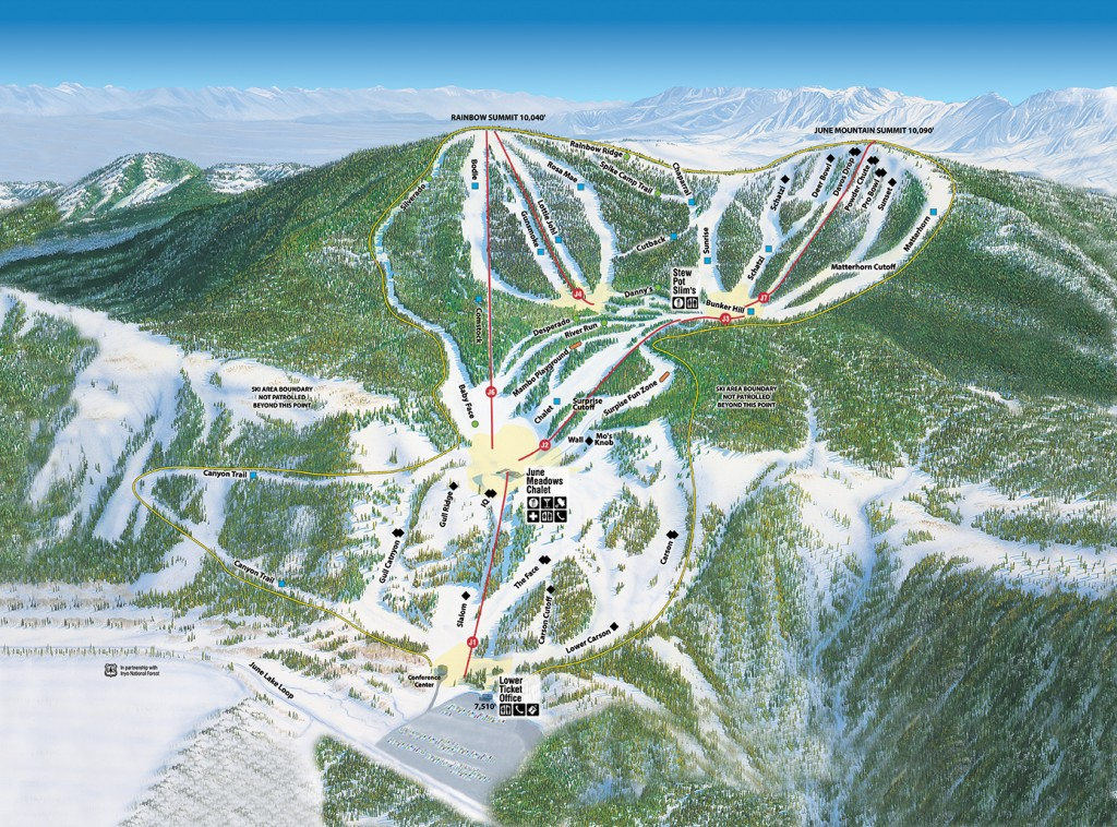 2014-2015 June Mountain Trailmap