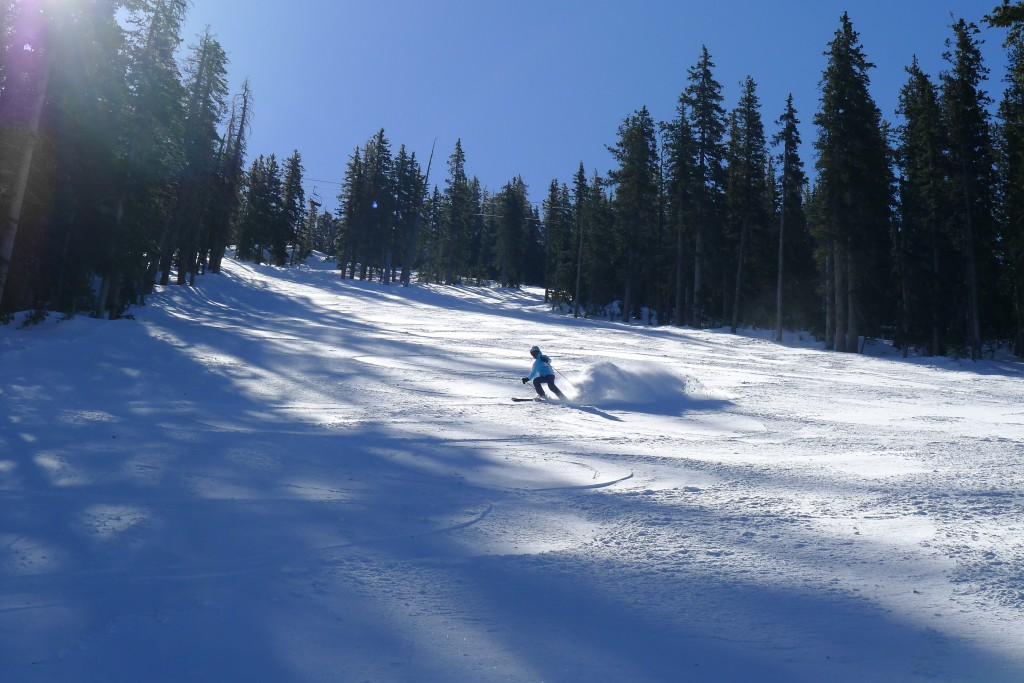 "2-3"" of powder at Arizona Snowbowl, March 2015"