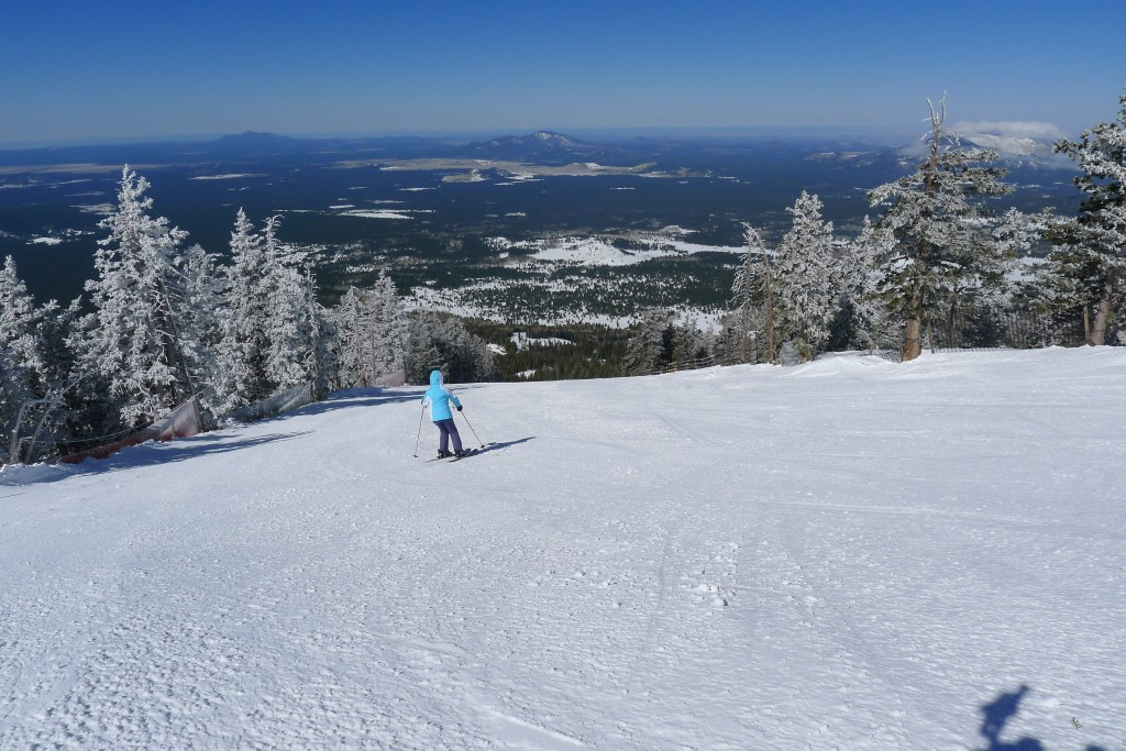 Arizona Snowbowl groomer and views, March 2015