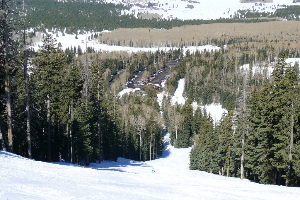 Small base area at Arizona Snowbowl, March 2015