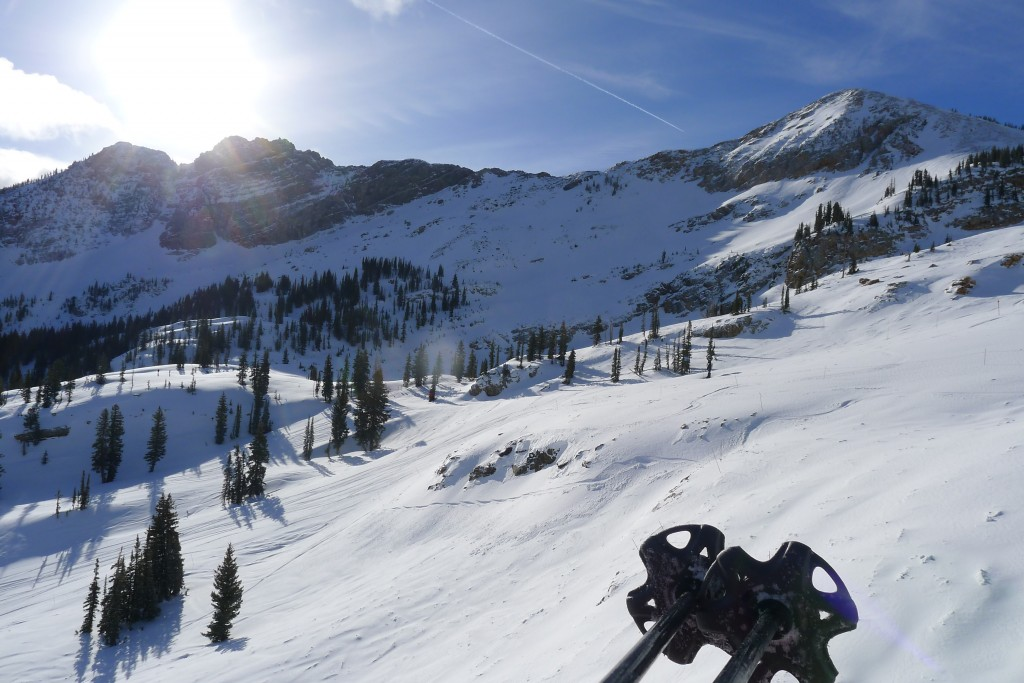 Alta morning view from Sugarloaf - February 2015