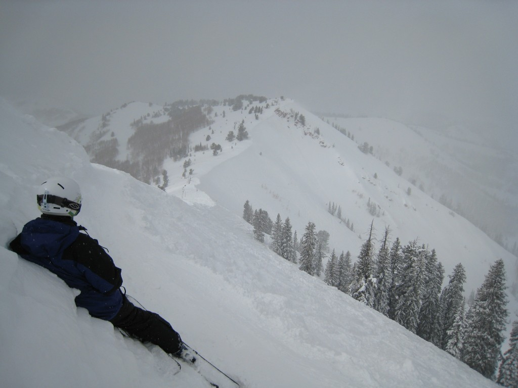 North face of 9990, The Canyons, February 2011