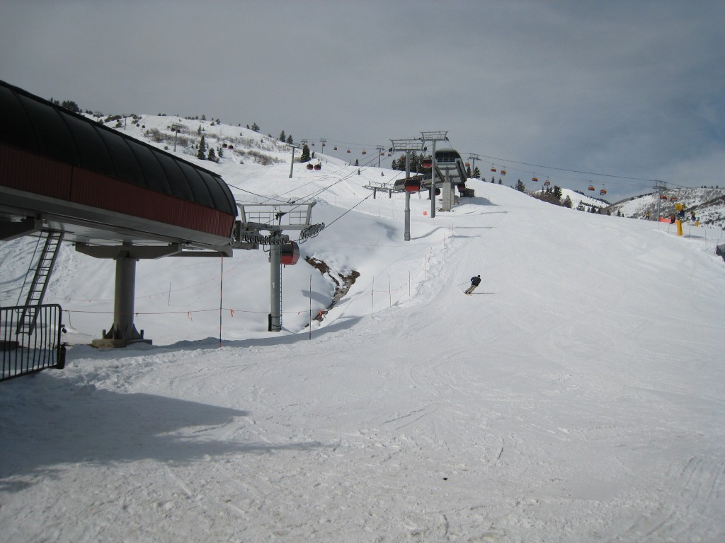 Base Area at The Canyons, February 2011