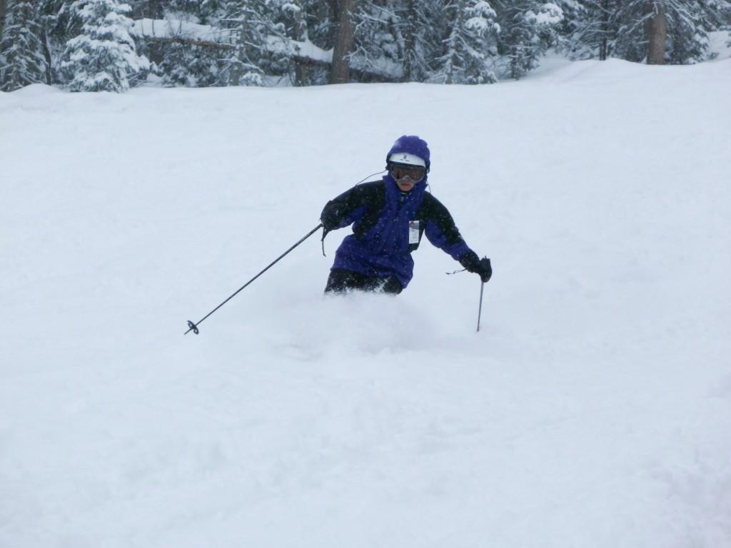 Iron Mountain Powder skiing at The Canyons, February 2011