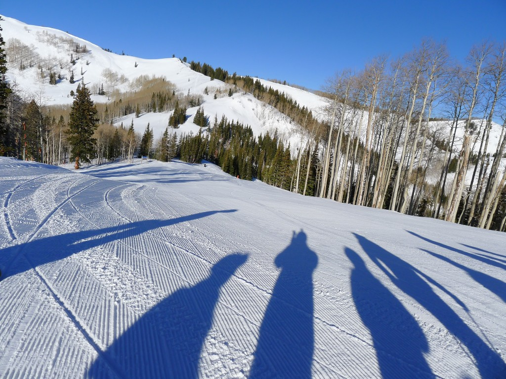 First Tracks at The Canyons, February 2014