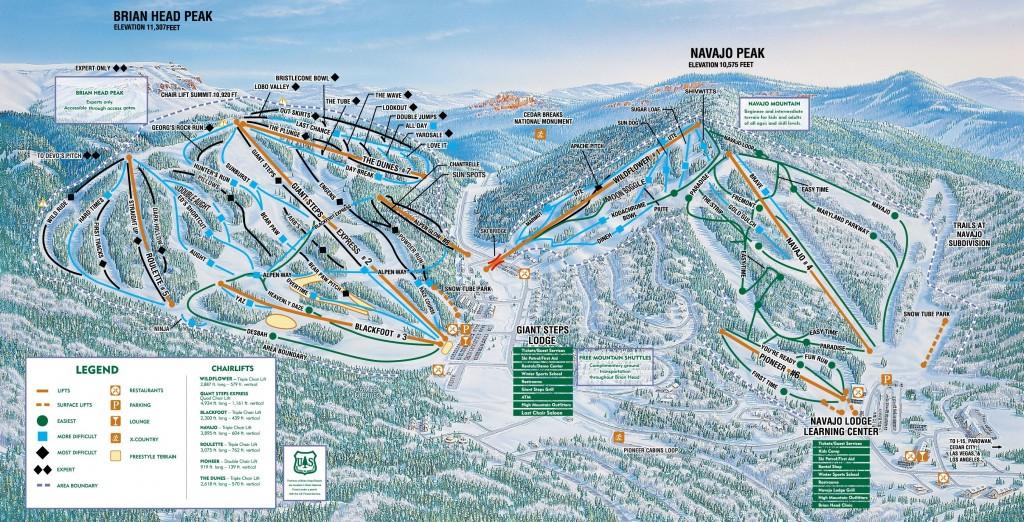 Brian Head trail map 2014/2015
