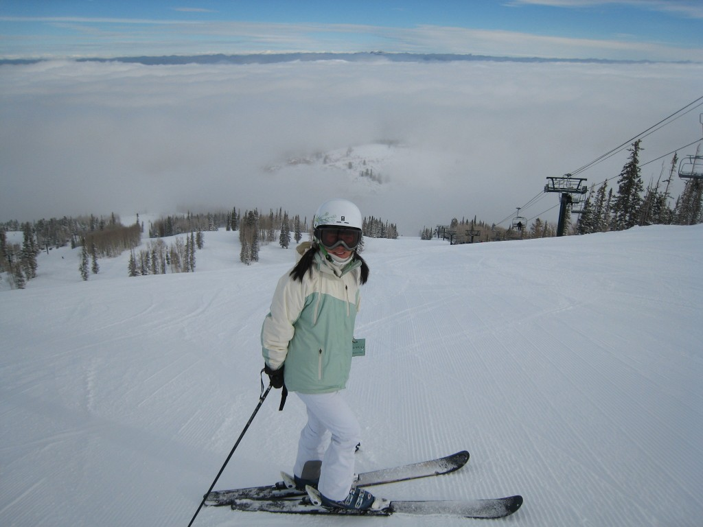Flagstaff Mountain above the clouds at Deer Valley