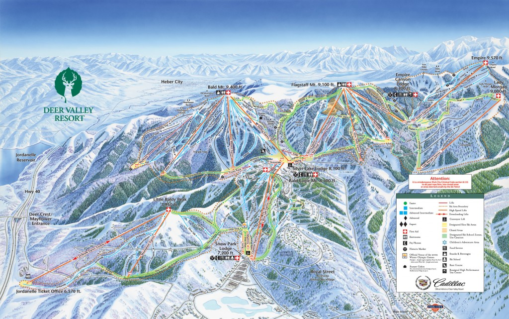 Deer Valley Trail Map 2013