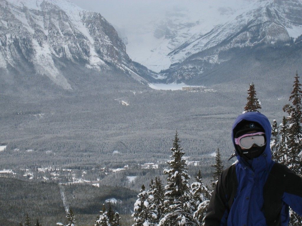 View of Lake Louise from the slopes - December 2007