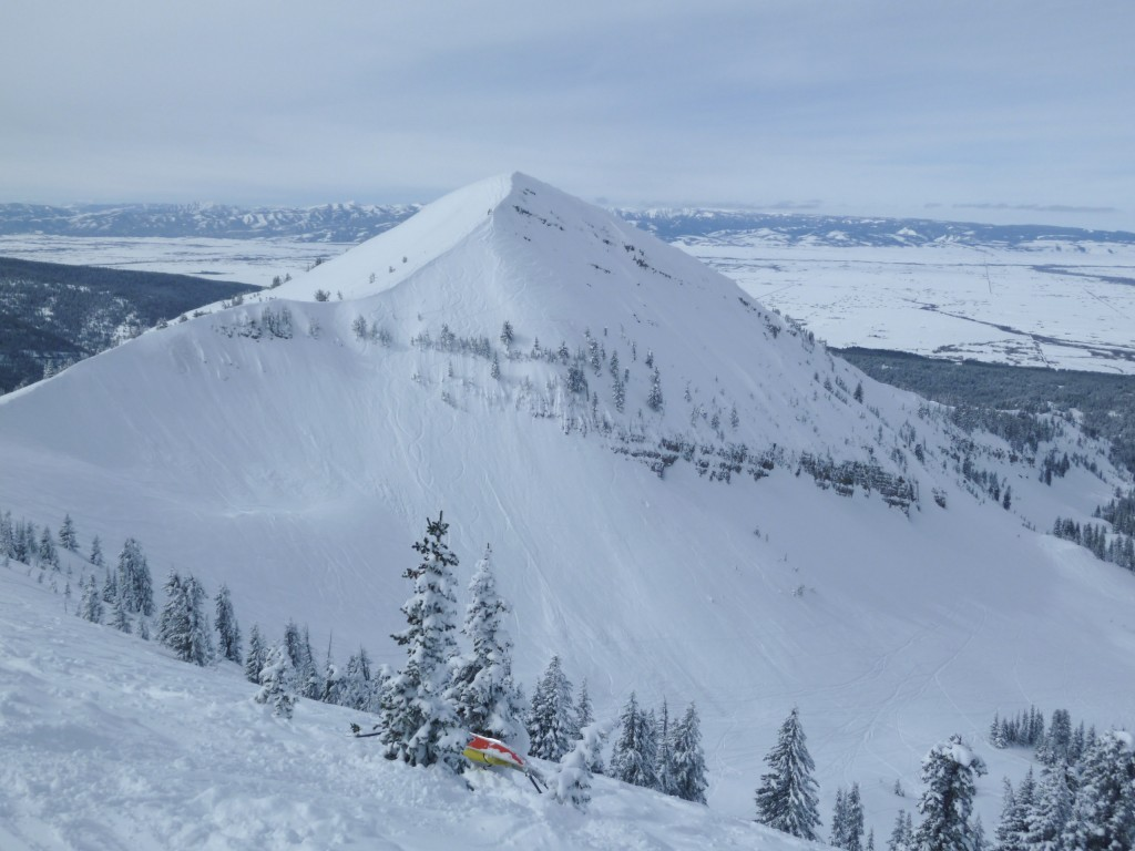 Steep terrain on Peaked Mountain from top of Marys, Grand Targhee, March 2011