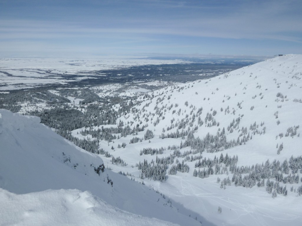 From the top of Peaked Mountain, Grand Targhee, March 2011