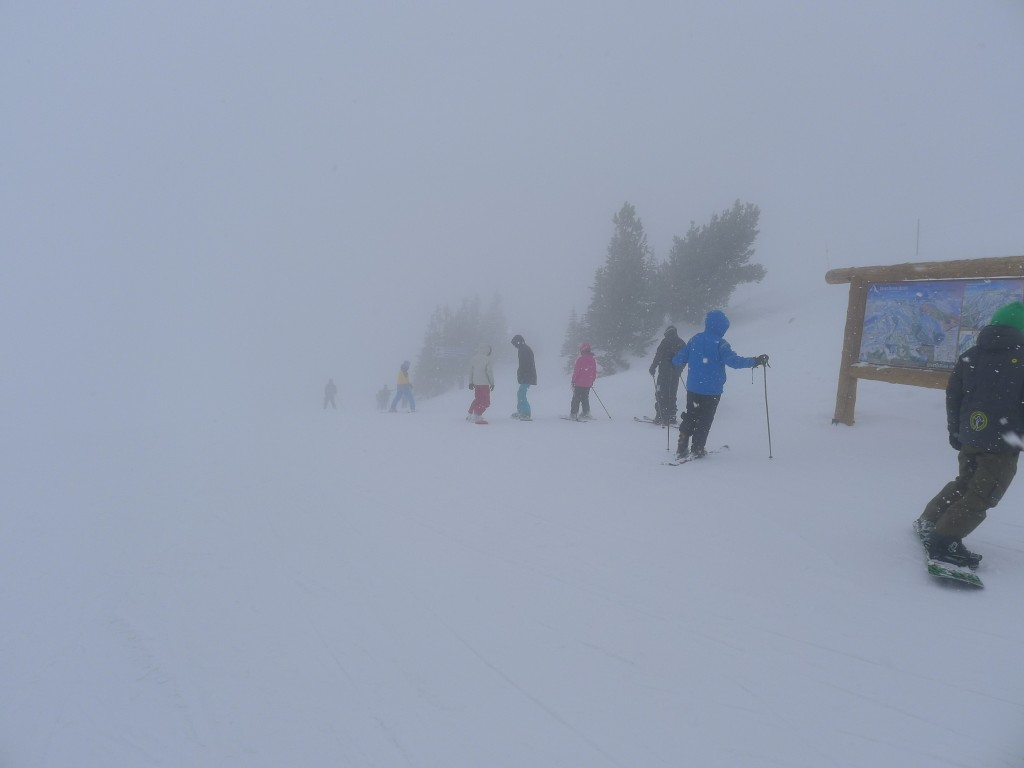 Fog at the top of Dreamcatcher, December 2013