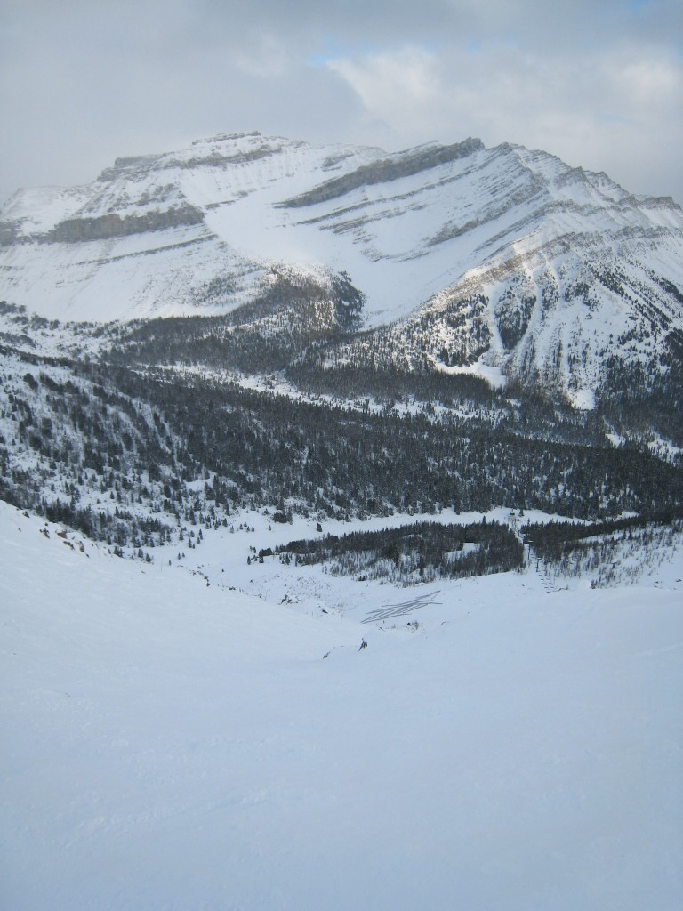 View from the top of the Paradise Triple at Lake Louise - December 2007