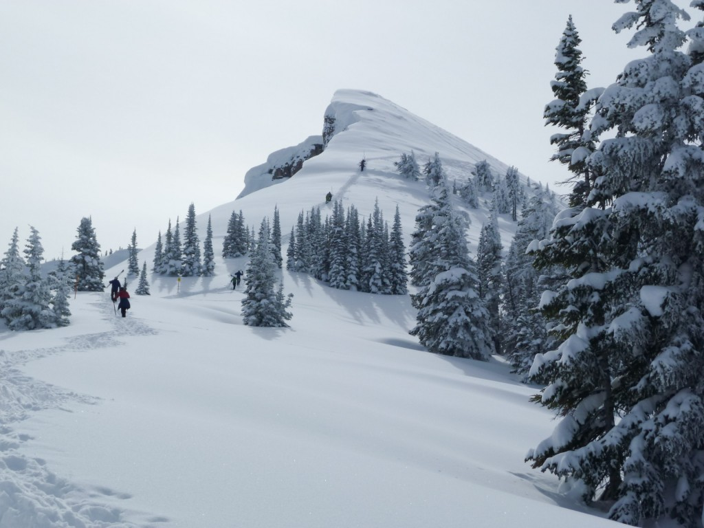 Hike to Marys, Grand Targhee, March 2011