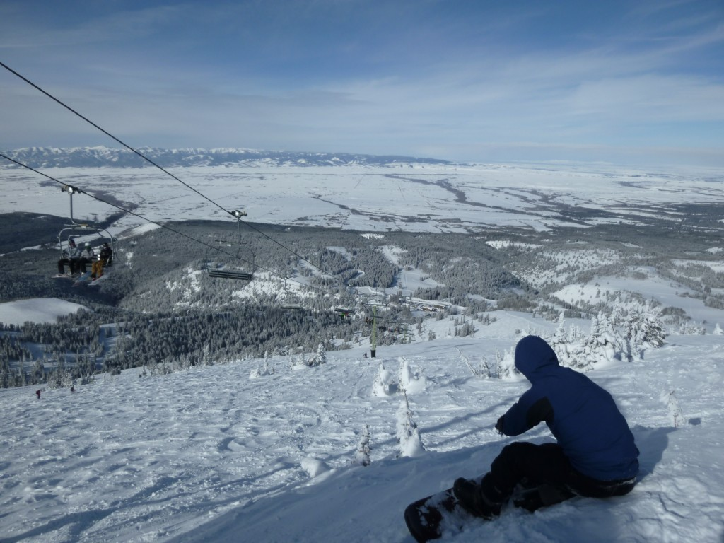 Views into Idaho from the top of Grand Targhee, March 2011
