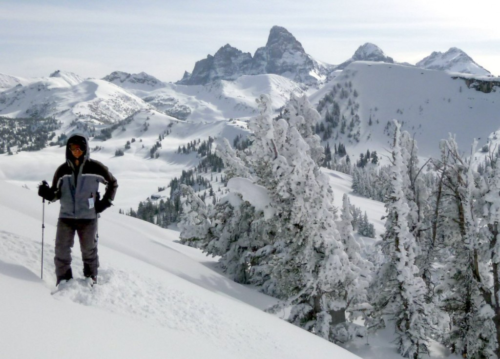 View of Grand Teton from Grand Targhee, March 2011