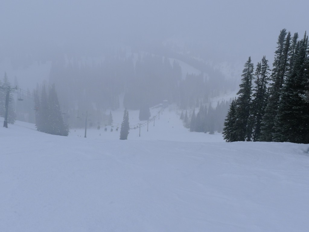 Uncrowded slopes at Grand Targhee, December 2013