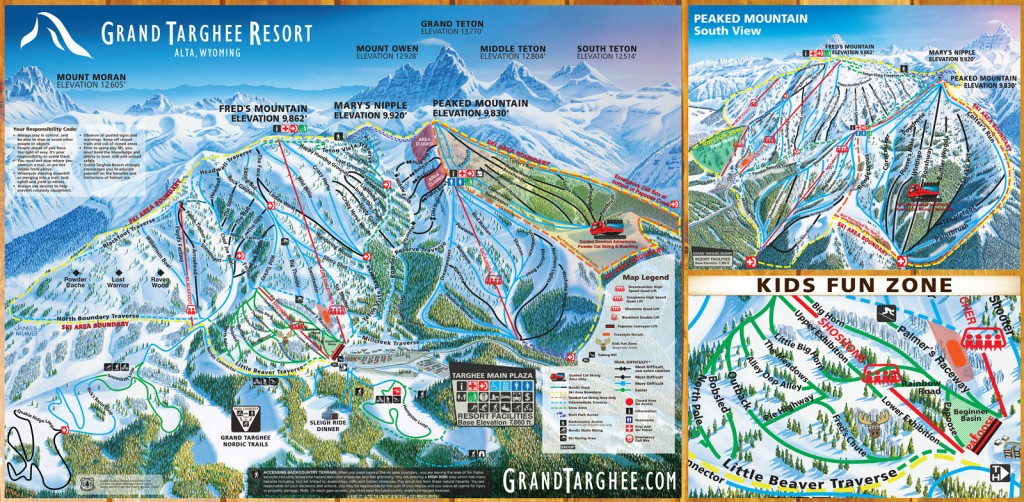 Grand Targhee trail map 2014