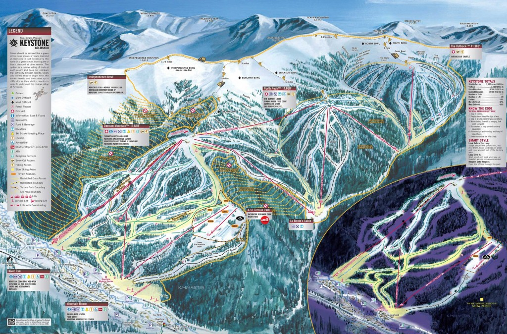 Keystone trail map 2013
