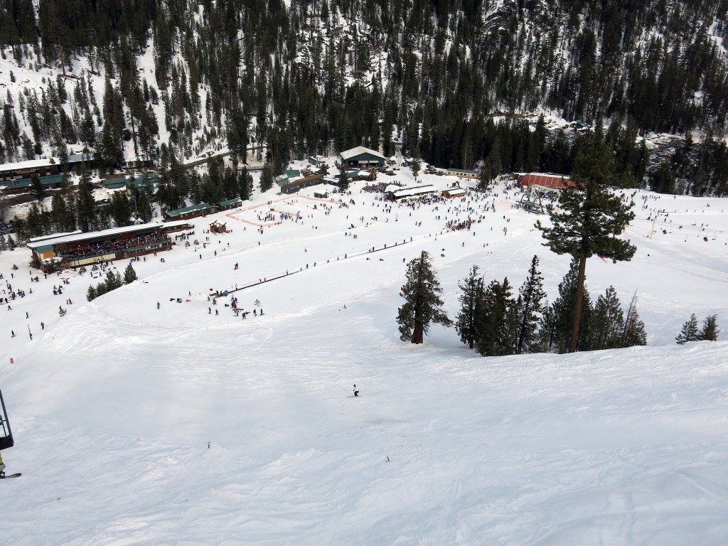 China Peak base area from above, January 2016