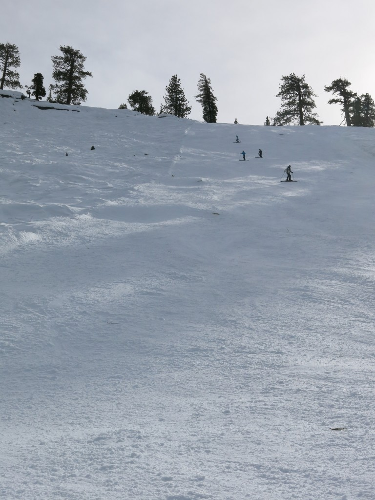 Steep groomer at China Peak, January 2016