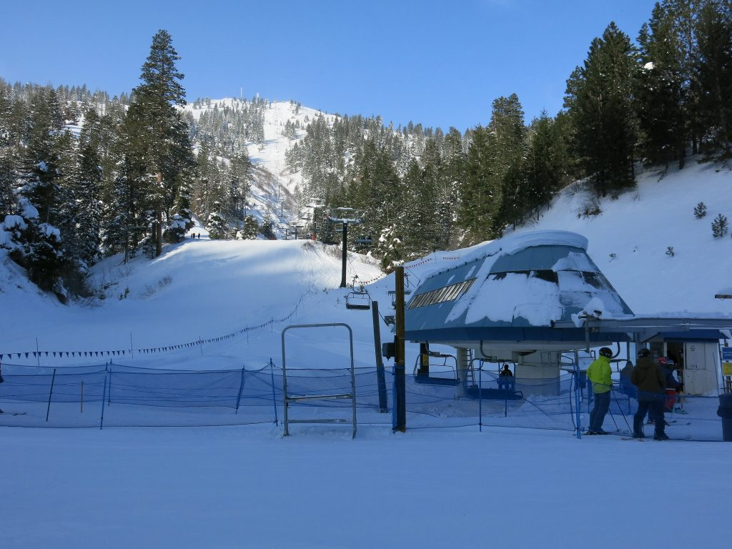 Bogus Basin empty high-speed quad - December 2015