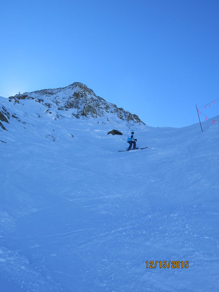 Steeper terrain under the Lenawee chair at A-Basin, December 2015