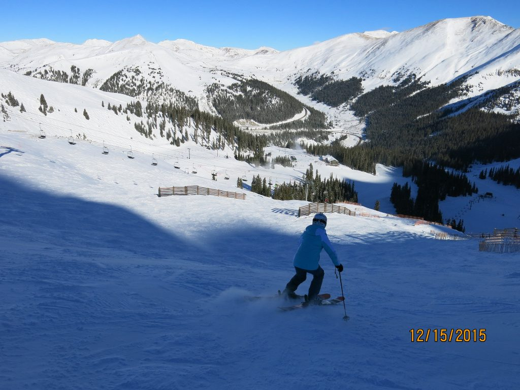 Ungroomed blue on Lenawee at A-Basin, December 2015