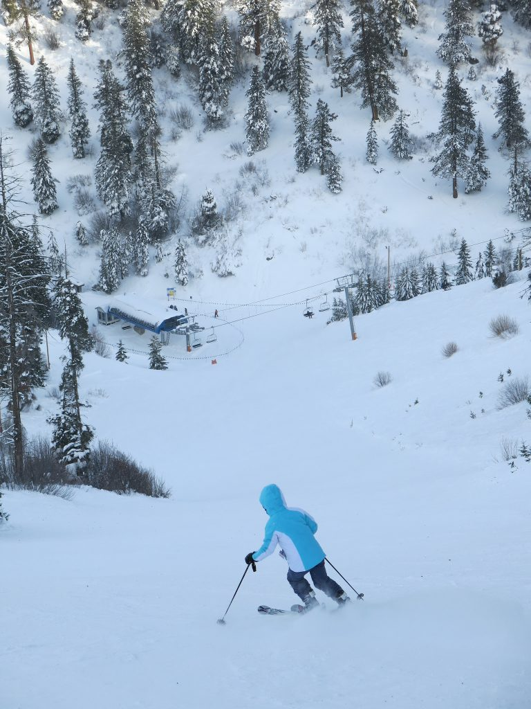 Steep groomer at Bogus Basin - December 2015