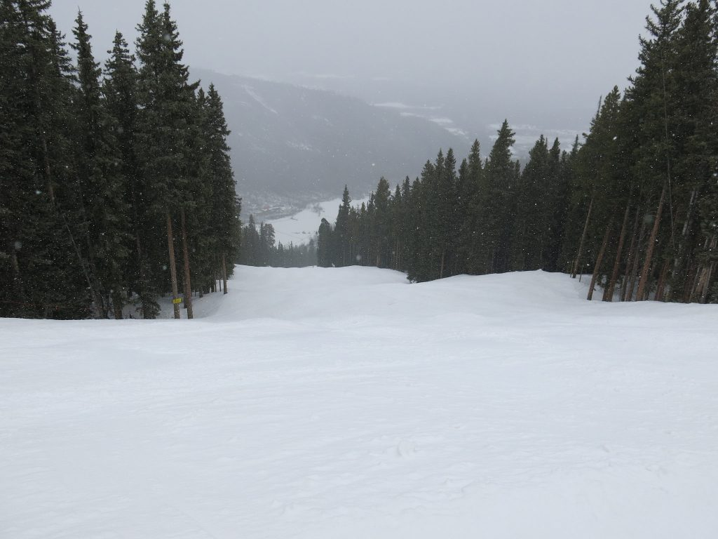Upper Mountain groomer at Aspen Highlands, March 2016